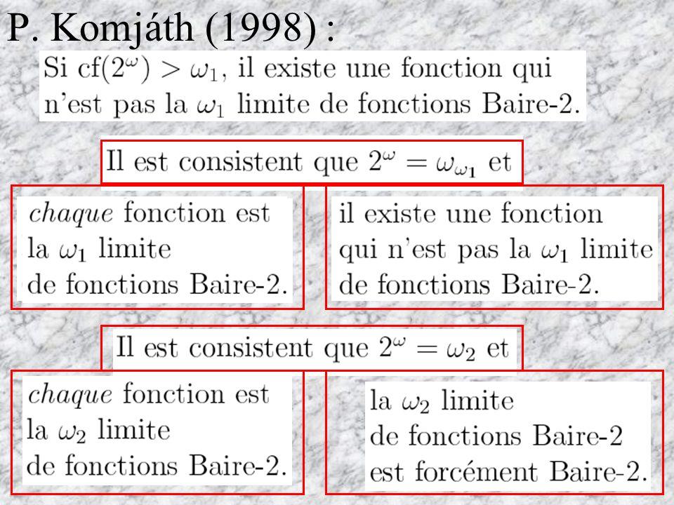 1. Suite transfinie de fonctions continues se stabilise.