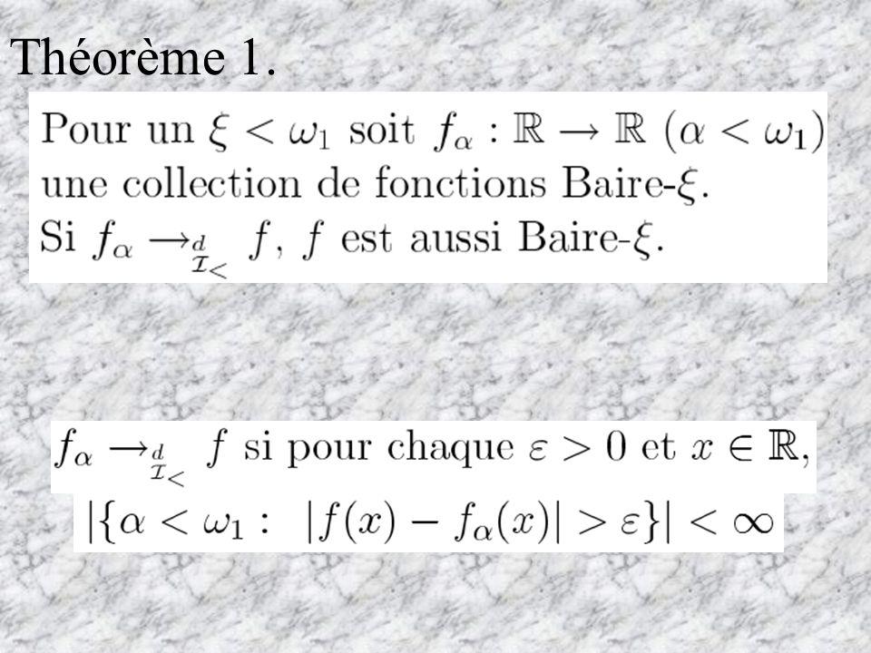 Autre convergence : 1 convergence quon considère dans ce qui suit