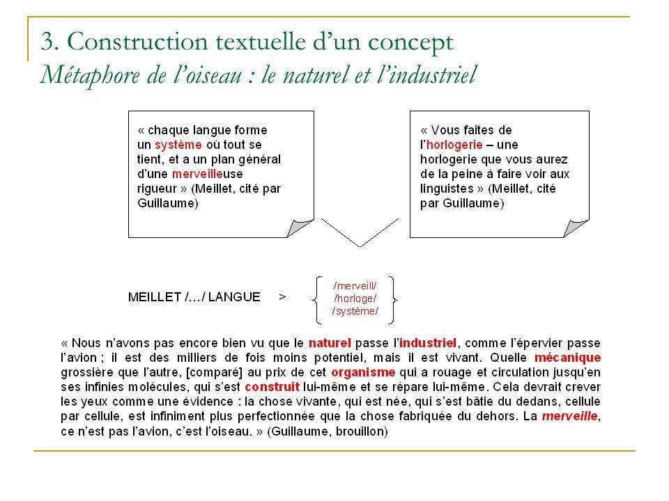 3. Construction textuelle dun concept Métaphore de loiseau : le naturel et lindustriel