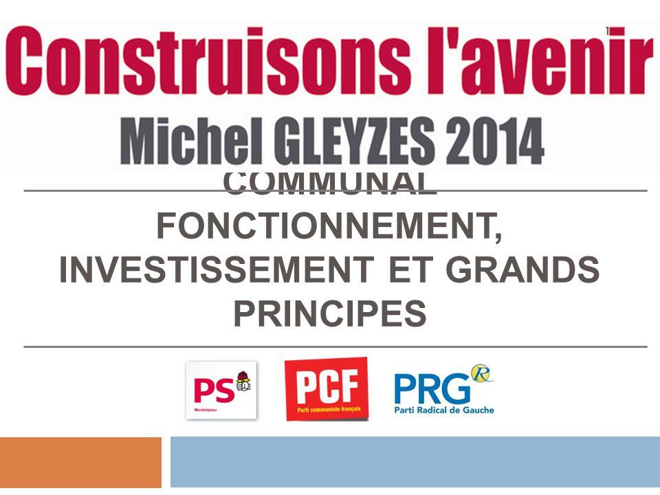 LES BASES DUN BUDGET COMMUNAL FONCTIONNEMENT, INVESTISSEMENT ET GRANDS PRINCIPES 1