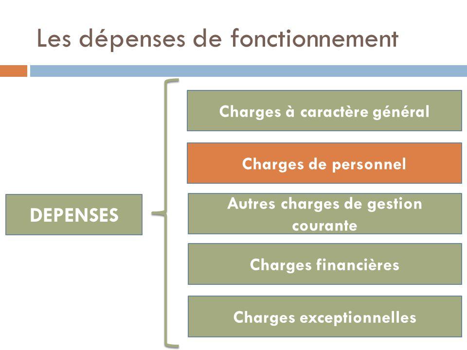 DEPENSES Charges à caractère général Charges de personnel Autres charges de gestion courante Charges financières Charges exceptionnelles