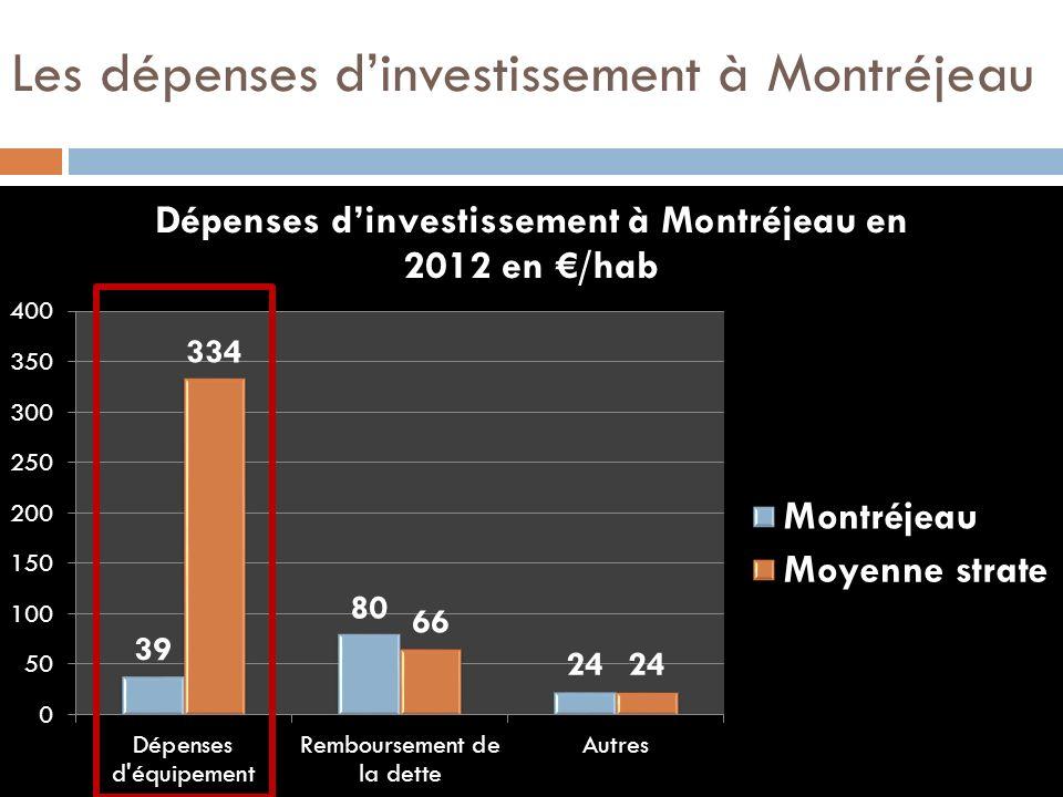 Les dépenses dinvestissement à Montréjeau