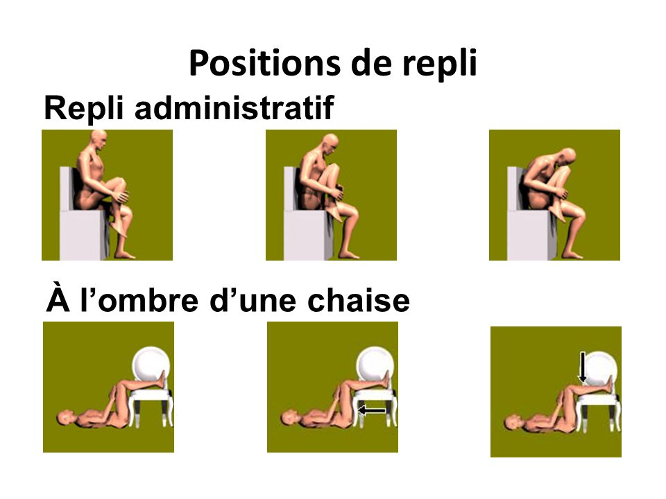 Positions de repli À lombre dune chaise Repli administratif