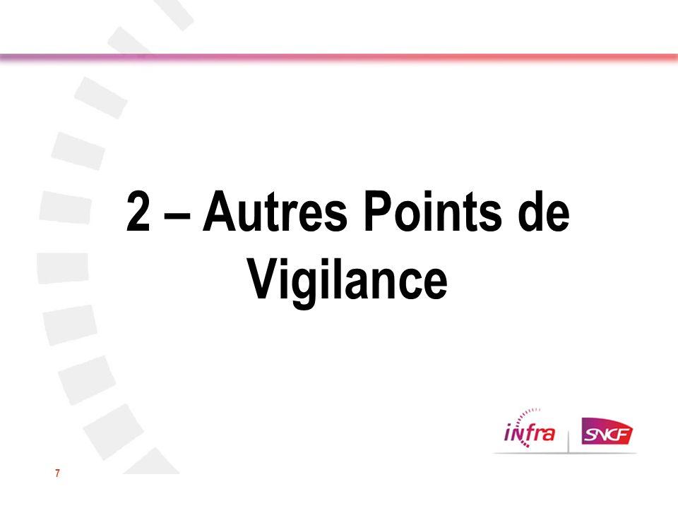 7 2 – Autres Points de Vigilance