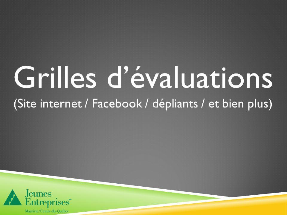 Grilles dévaluations (Site internet / Facebook / dépliants / et bien plus)