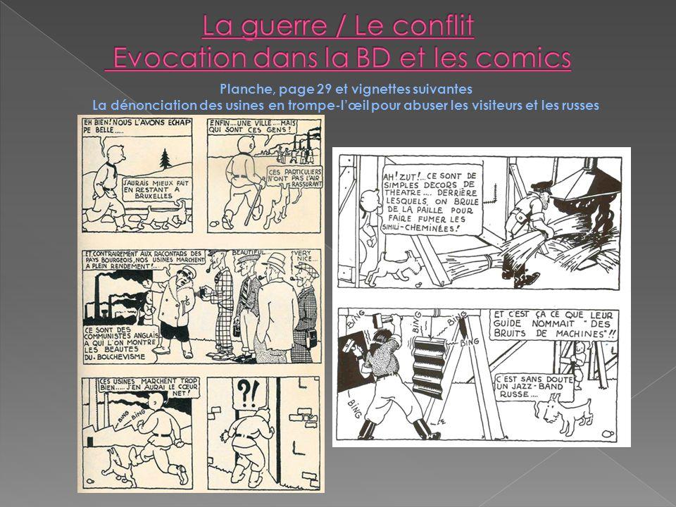 Planche, page 29 et vignettes suivantes La dénonciation des usines en trompe-lœil pour abuser les visiteurs et les russes