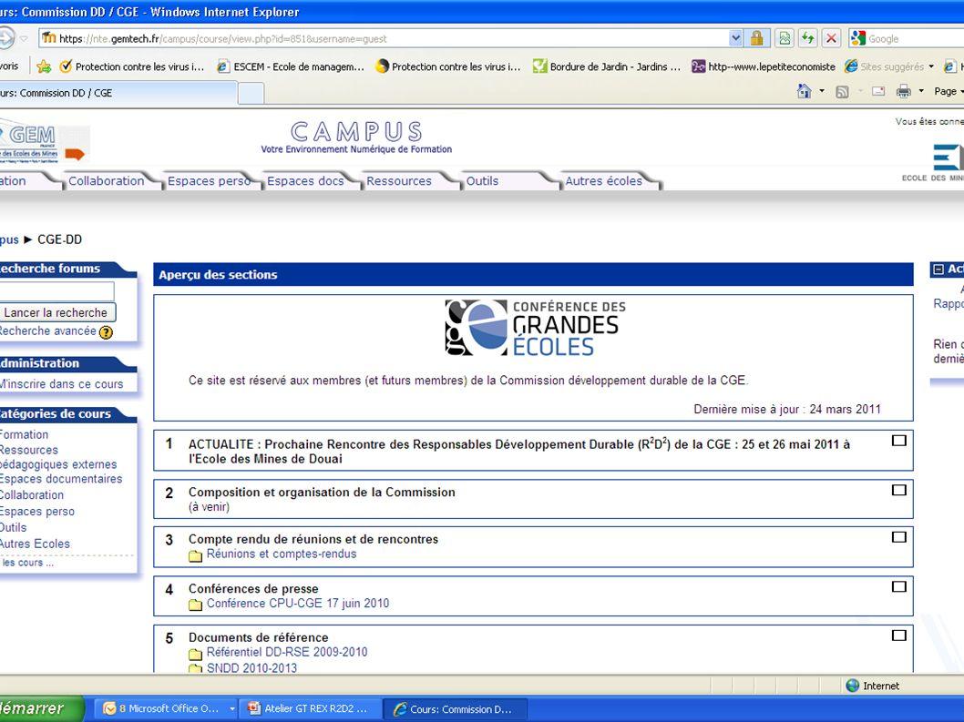 R2D2 2011 GT Accompagnement et mutualisation des expériences Page 9 sections