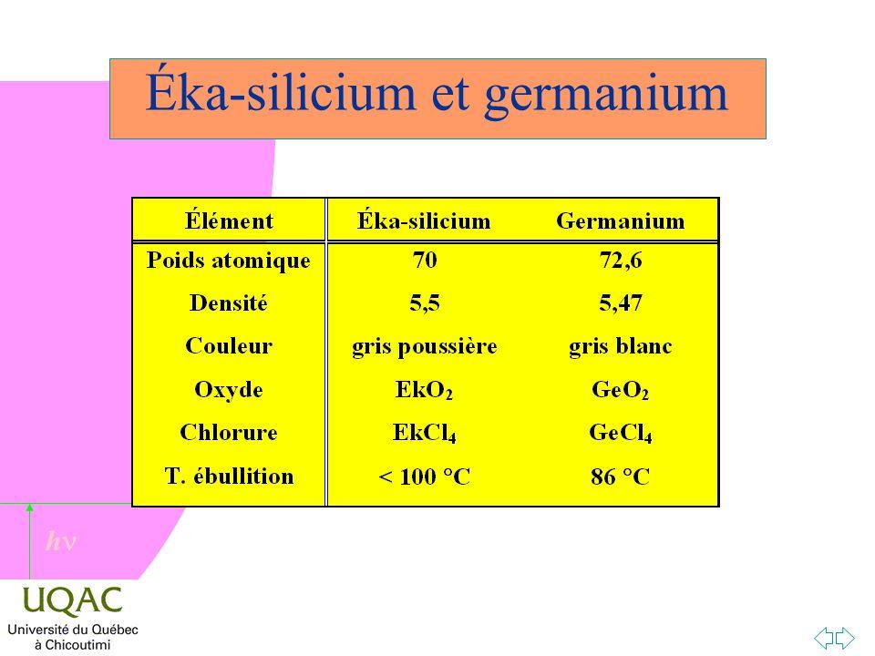 h Éka-silicium et germanium