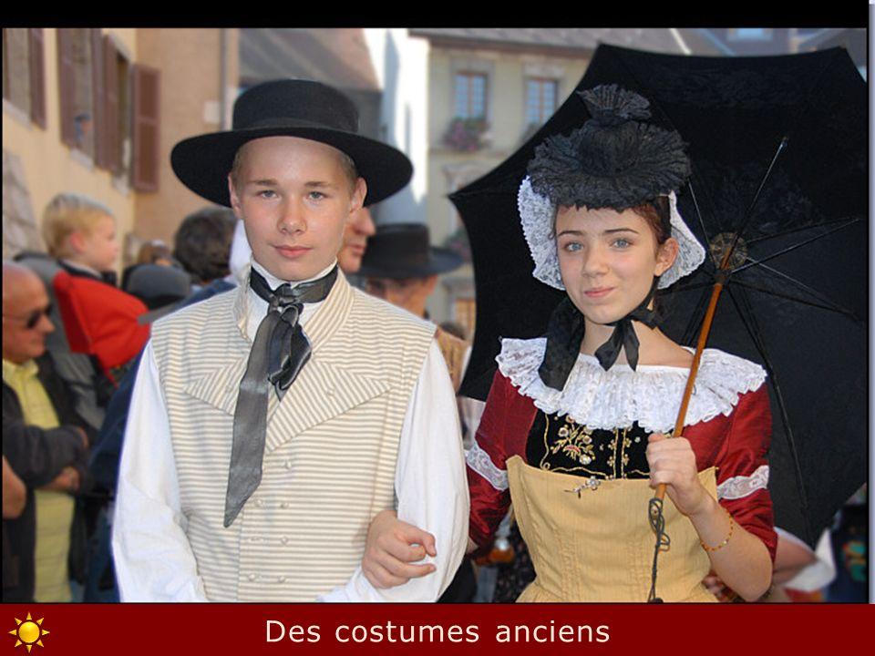 Des costumes anciens