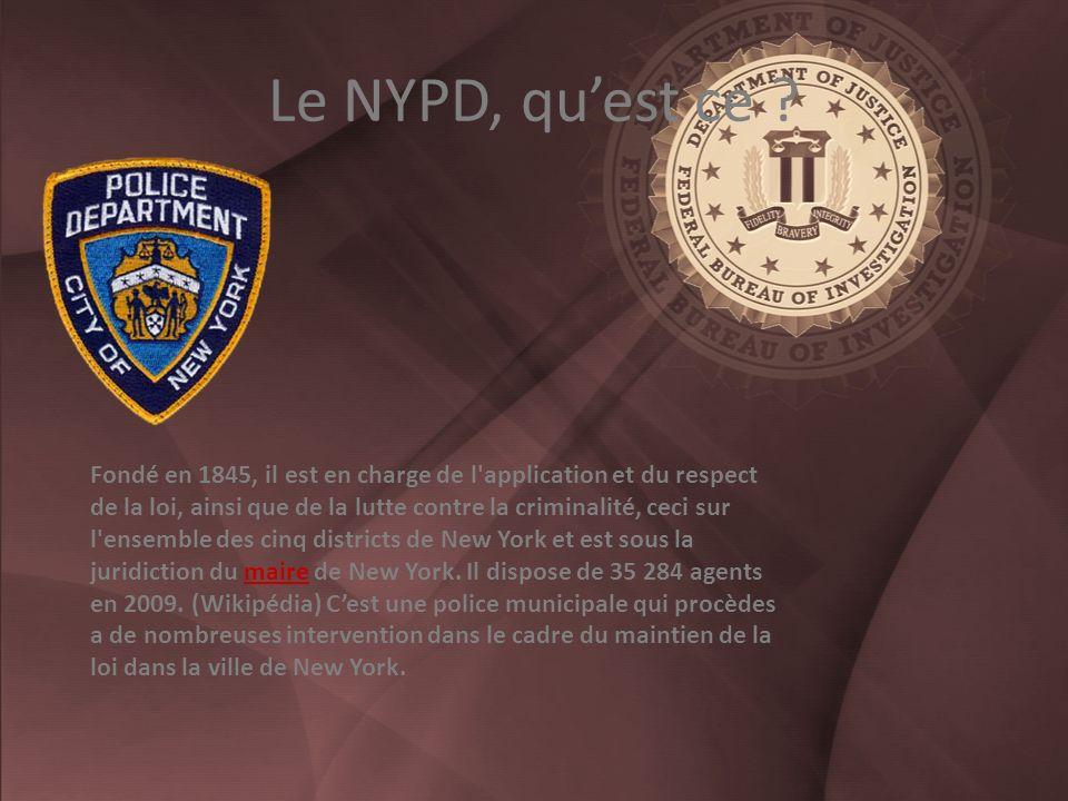 Le NYPD, quest ce .