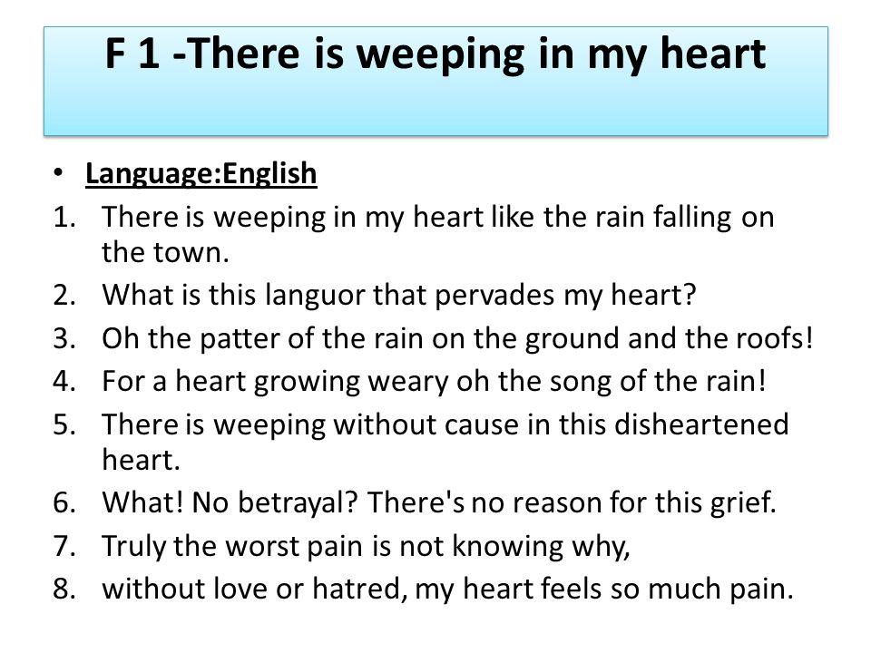 F 1-Il Pleure Dans Mon Coeur-Paul Verlaine 1.