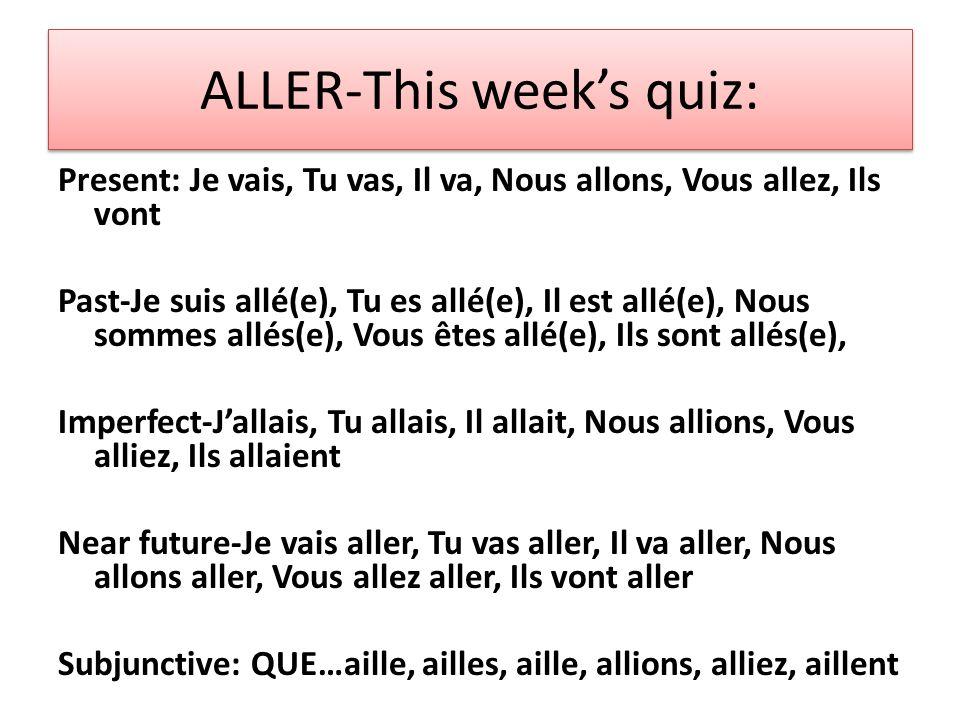 Le Passé Composé: The PAST TENSE (or perfect tense) of regular verbs A.