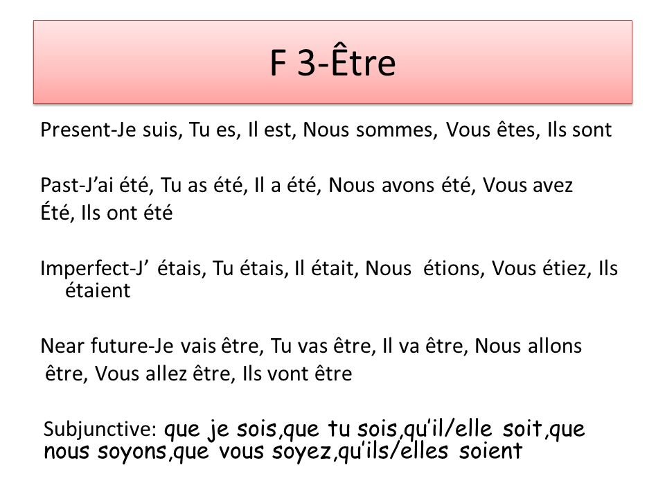F 2-Remember the être list by the initials DR.& MRS.