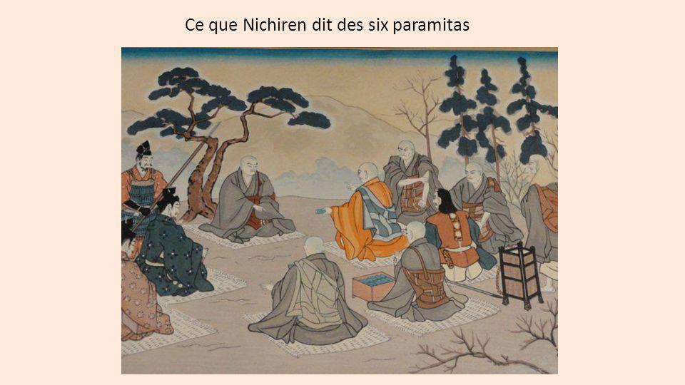Ce que Nichiren dit des six paramitas