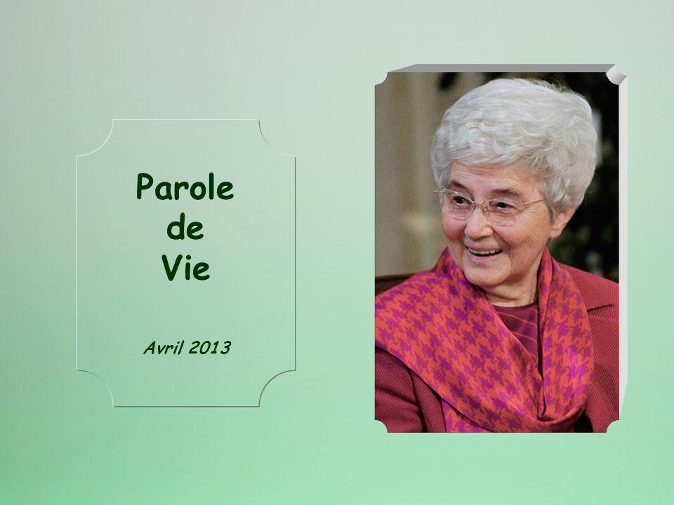 Parole de Vie Avril 2013