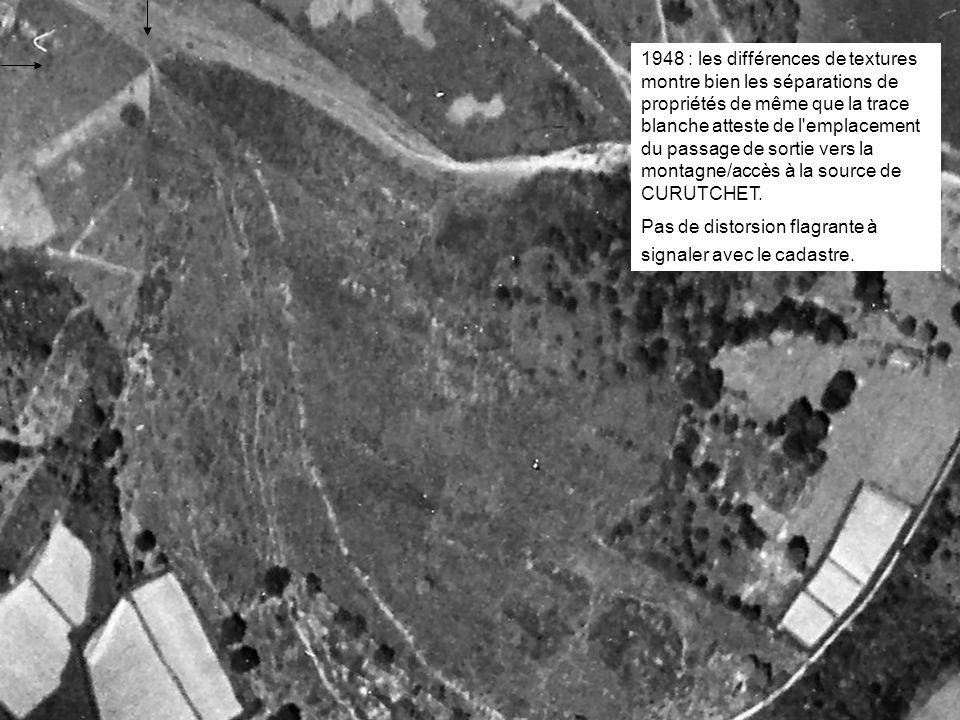 2008 : la nouvelle clôture nord approuvée par l expertise RIBETON (bien que dénoncée par tous les témoins) matérialisant les extensions EYHARTS- ARRAYET aux dépens de CHOURROUT-La COMMUNE est parfaitement repérable.