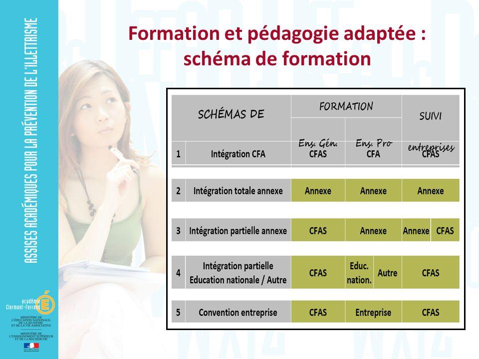 Formation et pédagogie adaptée : schéma de formation