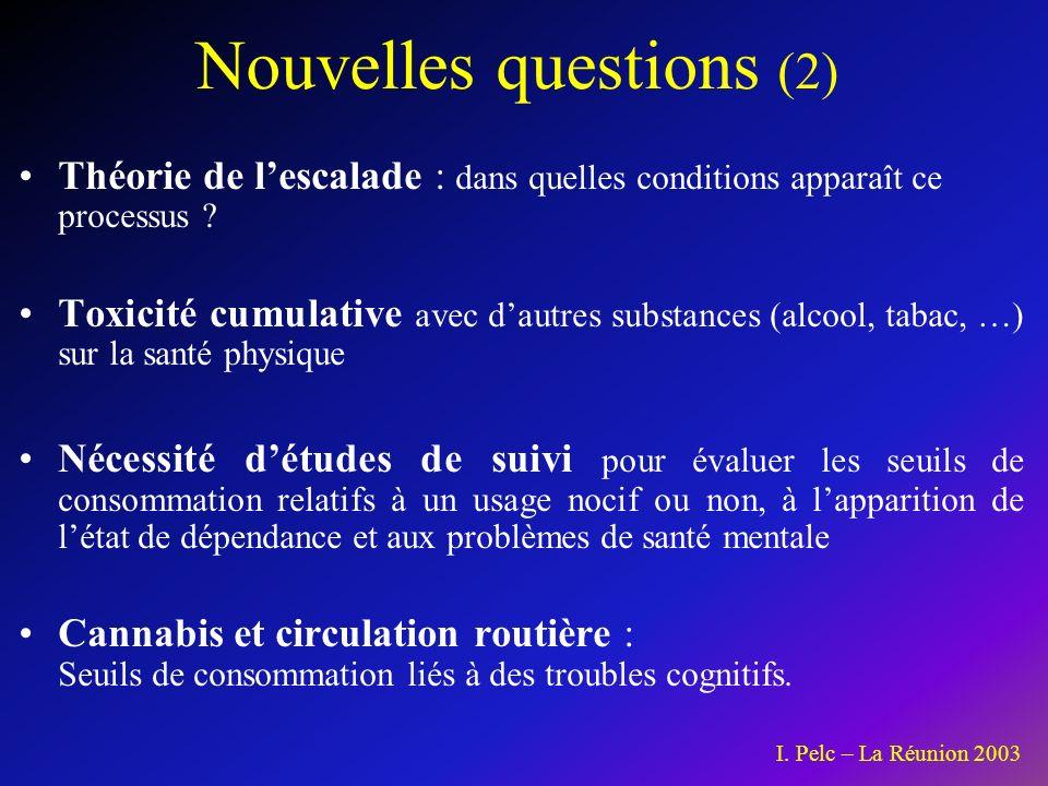 Nouvelles questions (2) Théorie de lescalade : dans quelles conditions apparaît ce processus .