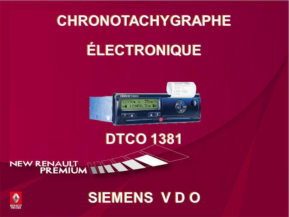 Le tachygraphe électronique GG. 18 mai 2014 R.T.I.T. Page 1/47 CHRONOTACHYGRAPHE ÉLECTRONIQUE DTCO 1381 SIEMENS V D O CHRONOTACHYGRAPHE ÉLECTRONIQUE D