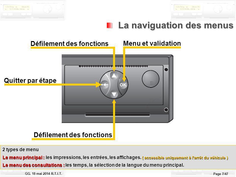Le tachygraphe électronique GG.18 mai 2014 R.T.I.T.