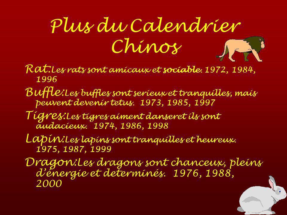 Le Calenrier Chinos Chèvre: Les chévres aiment lart et sont perfectionnistes.