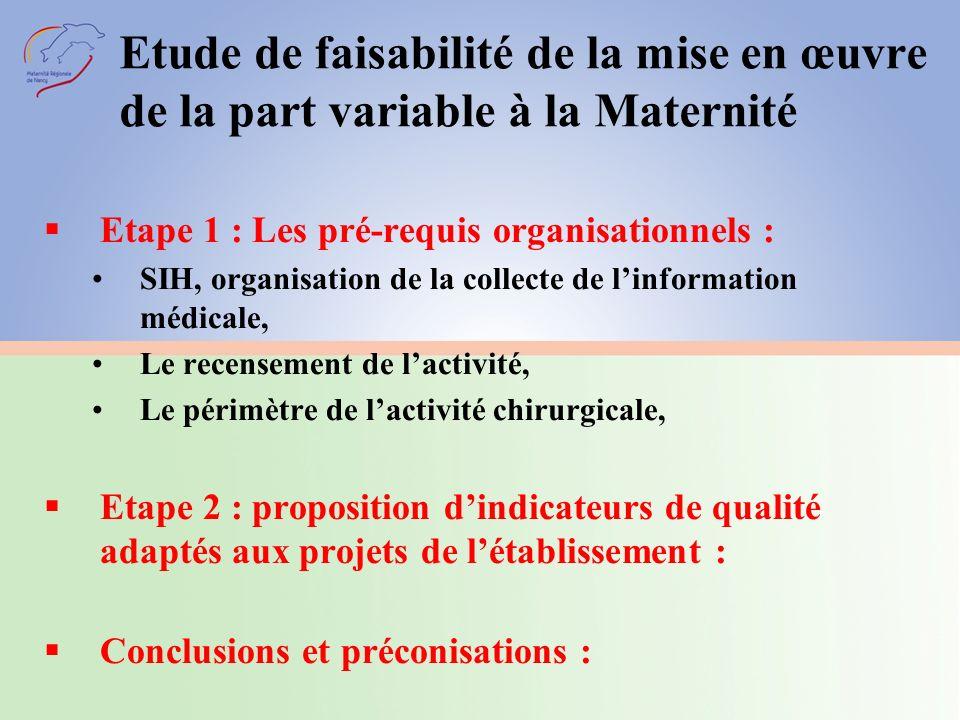 ETAPE 1 LES PRE-REQUIS ORGANISATIONNELS