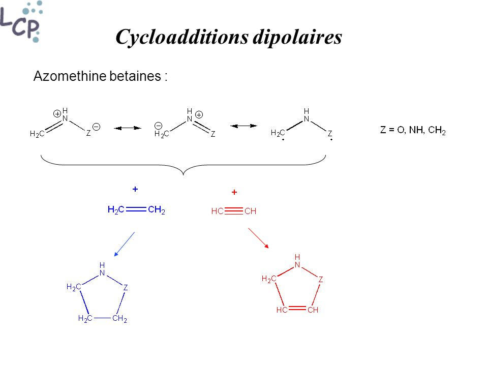 Cycloadditions dipolaires Azomethine betaines :