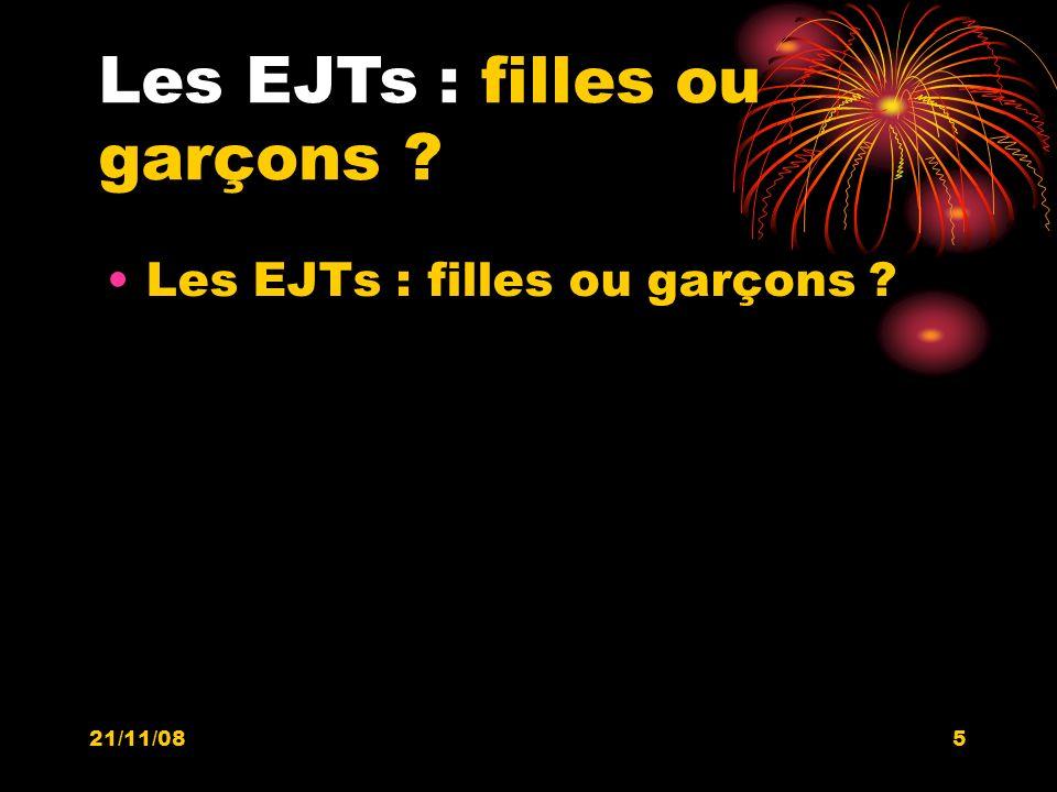 21/11/085 Les EJTs : filles ou garçons ?