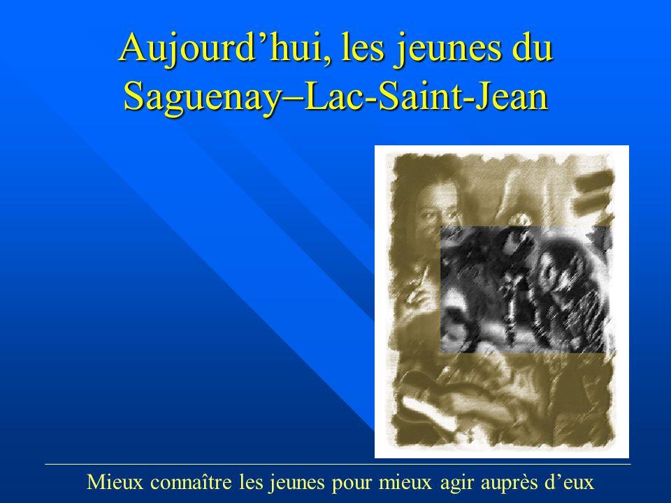Groupe Écobes, 1998 «Aujourdhui, les jeunes du Saguenay Lac-St-Jean» Aujourdhui, les jeunes du Saguenay Lac-Saint-Jean Mieux connaître les jeunes pour mieux agir auprès deux