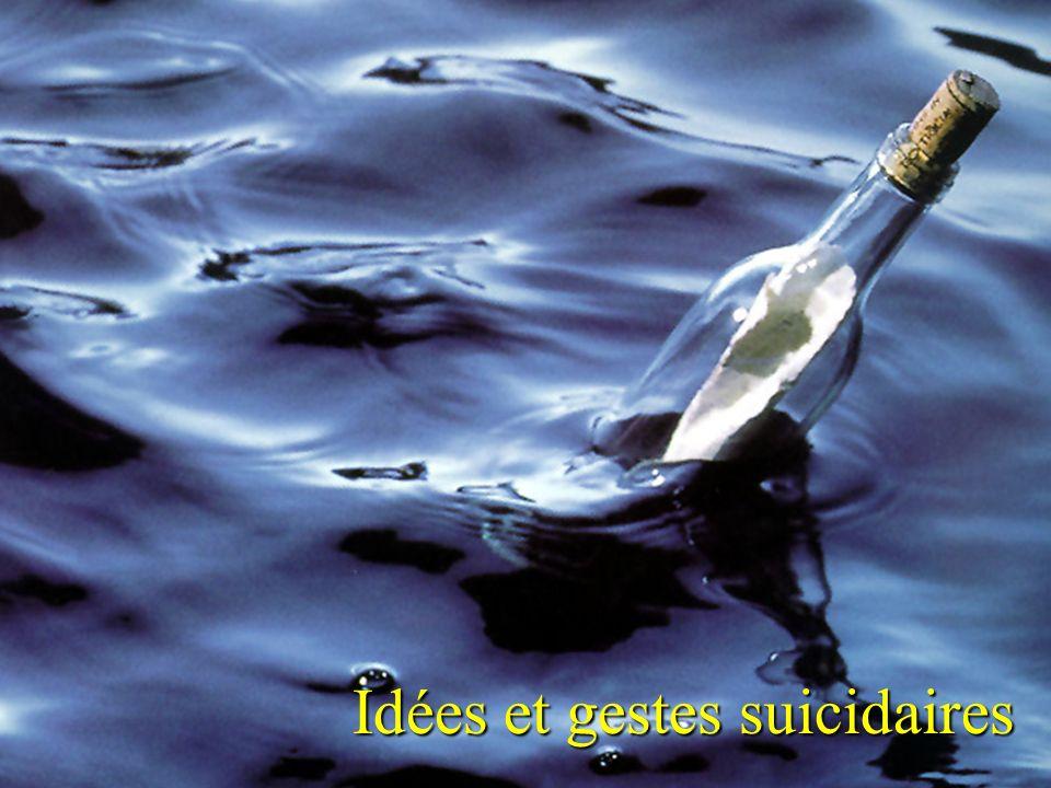 Groupe Écobes, 1998 «Aujourdhui, les jeunes du Saguenay Lac-St-Jean» Idées et gestes suicidaires