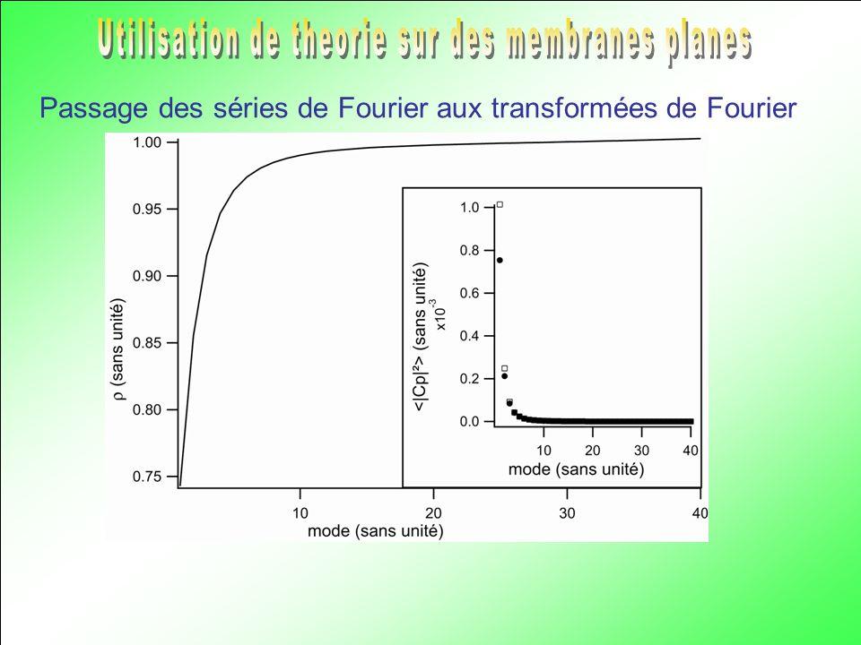 Passage des séries de Fourier aux transformées de Fourier