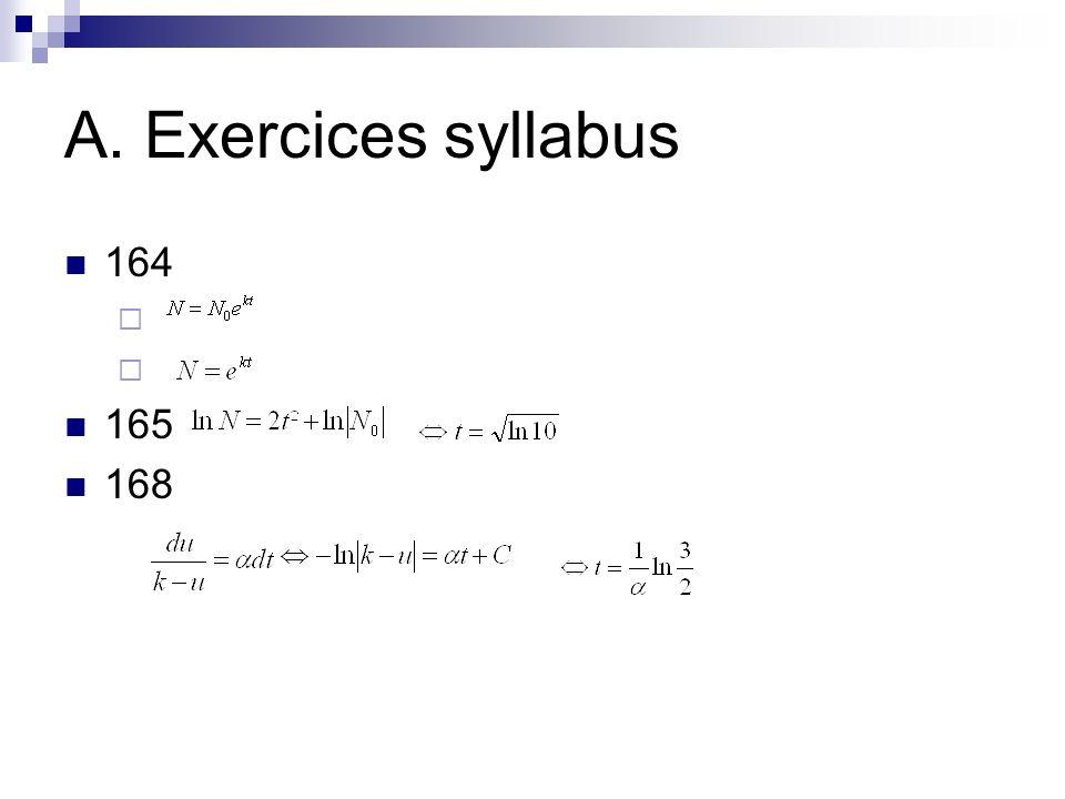 A. Exercices syllabus 170 1) 2)