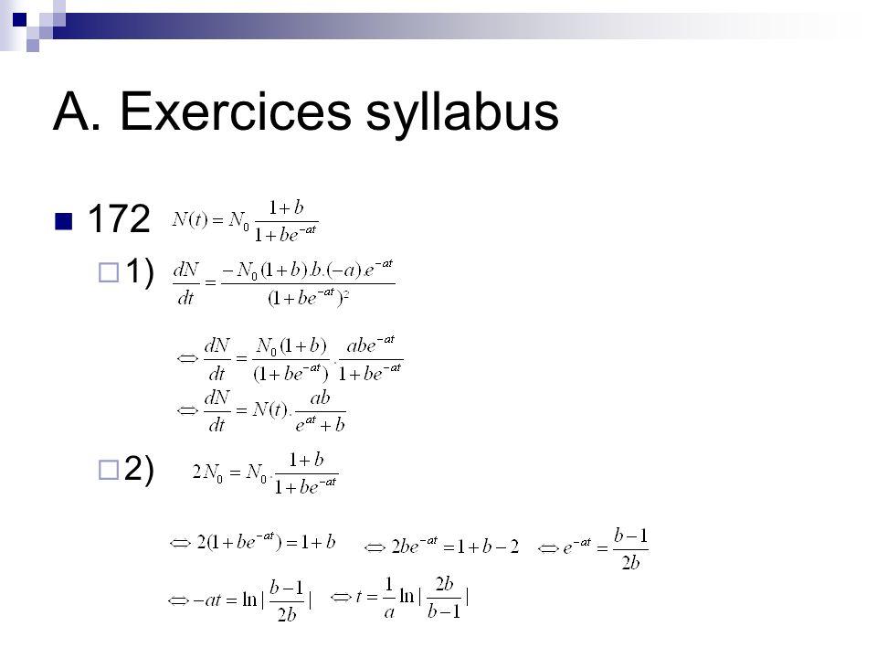 A. Exercices syllabus