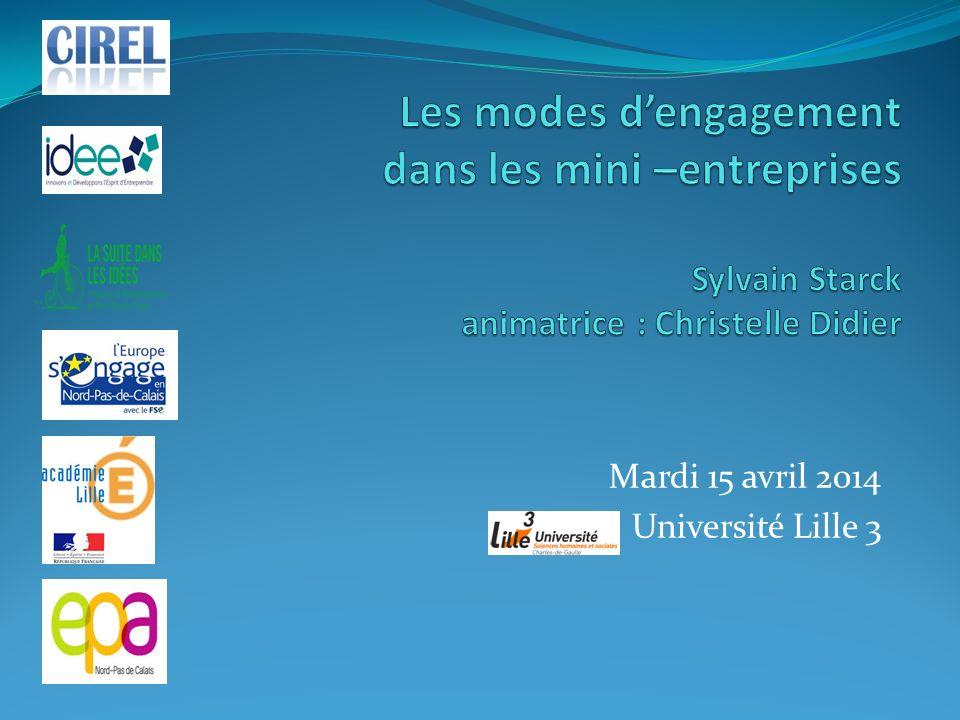 Mardi 15 avril 2014 Université Lille 3
