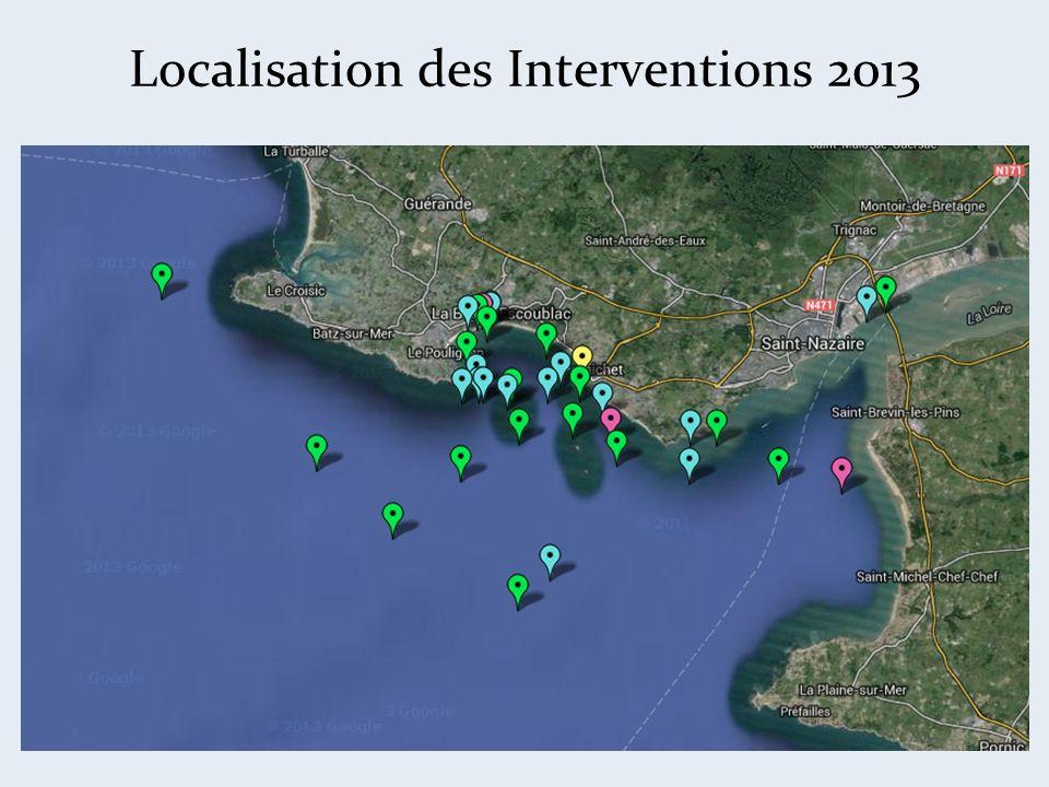 Localisation des Interventions 2013