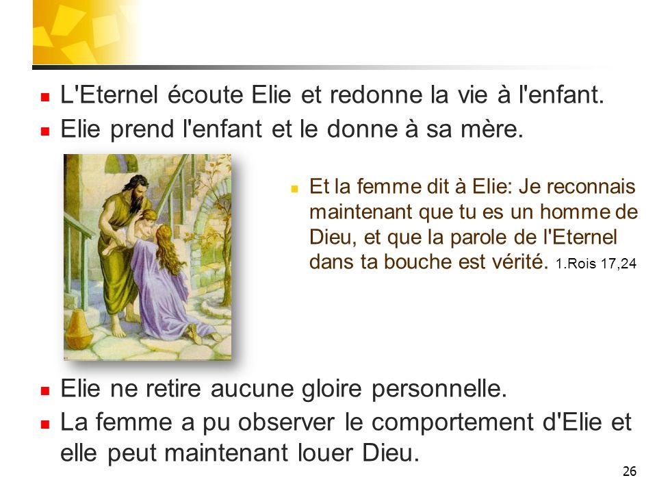 27 Elie et Abdias Durant la 3 ème année de sécheresse, l Eternel dit à Elie d aller devant Achab.