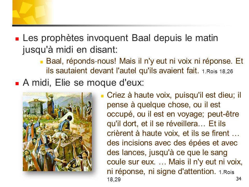 35 Elie dit alors au peuple de s approcher.Il prend 12 pierres et en bâtit un autel à l Eternel.