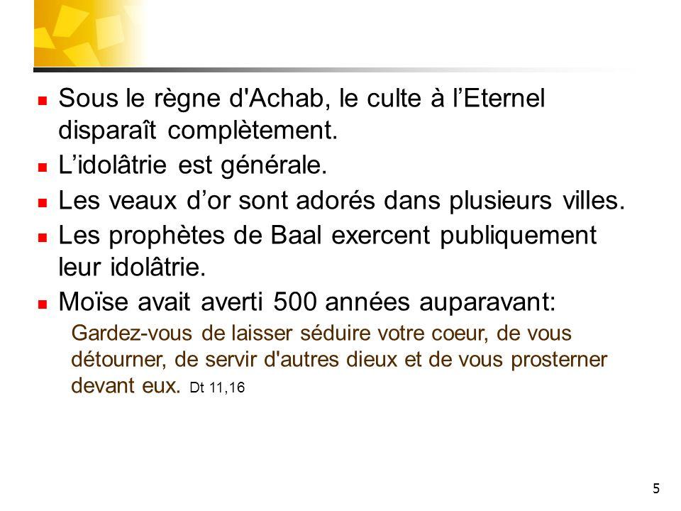 6 Elie prédit la famine Elie est prophète.Il vit à Galaad.
