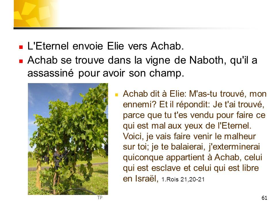 62 Après avoir entendu ces paroles, Achab déchire ses vêtements met un sac sur son corps et jeûne.