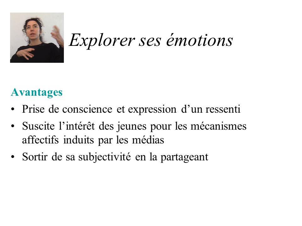 Explorer ses émotions Exemples Exprimer son émotion après la lecture dun article dactualité Ecouter les autres jeunes qui expriment leurs émotions Interroger des personnes sur ce quelles éprouvent comme émotion