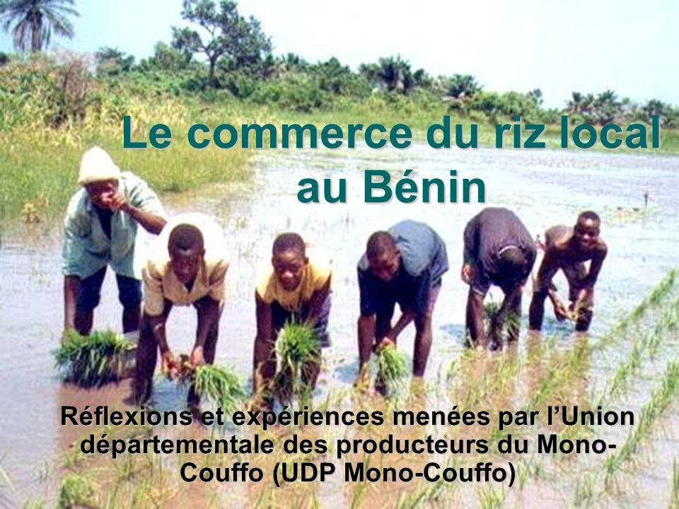 26/05/05 Journée du riz à Lokossa Comité riz UDP Mono Couffo Le commerce du riz local au Bénin Réflexions et expériences menées par lUnion département