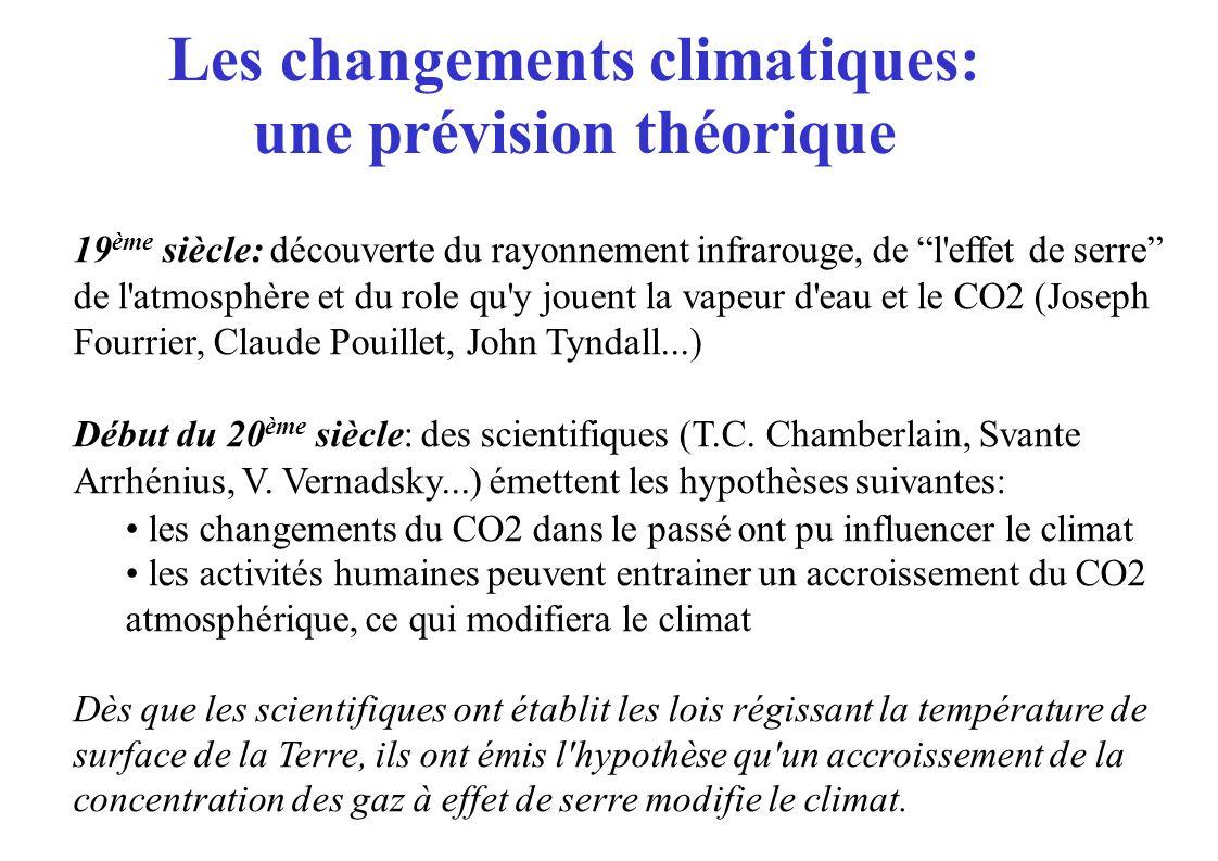 Evolution de la température moyenne en été en France de 1860 à 2100 (modèle de l IPSL, scenario SRES A2, sans aérosols) 21001950200020501860 1900 Pour le 20 ième siècle, mois d été très chaudtrès froid moyen Modèle moyenné sur 20 ans Observations 20 ième siècle 2003 Que représentent ces changements de température.