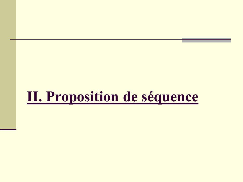 II. Proposition de séquence