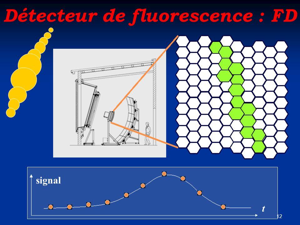12 Détecteur de fluorescence : FD t signal