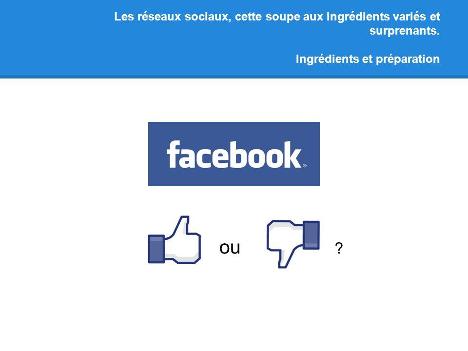 Les réseaux sociaux, cette soupe aux ingrédients variés et surprenants. Ingrédients et préparation ou ?
