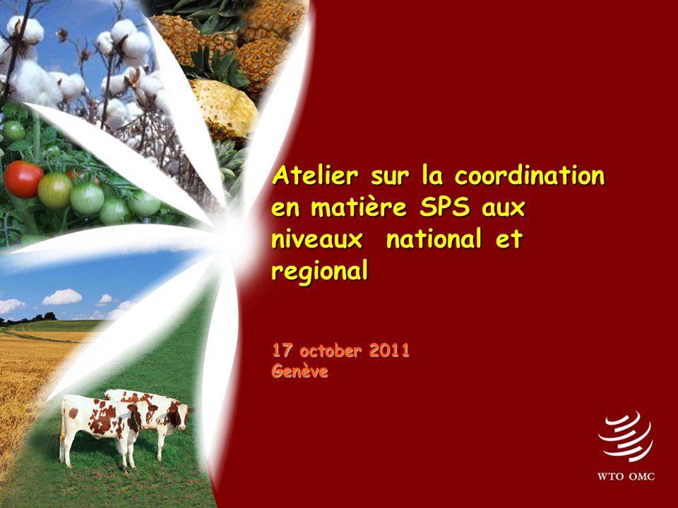 Atelier sur la coordination en matière SPS aux niveaux national et regional 17 october 2011 Genève Atelier sur la coordination en matière SPS aux niveaux national et regional 17 october 2011 Genève