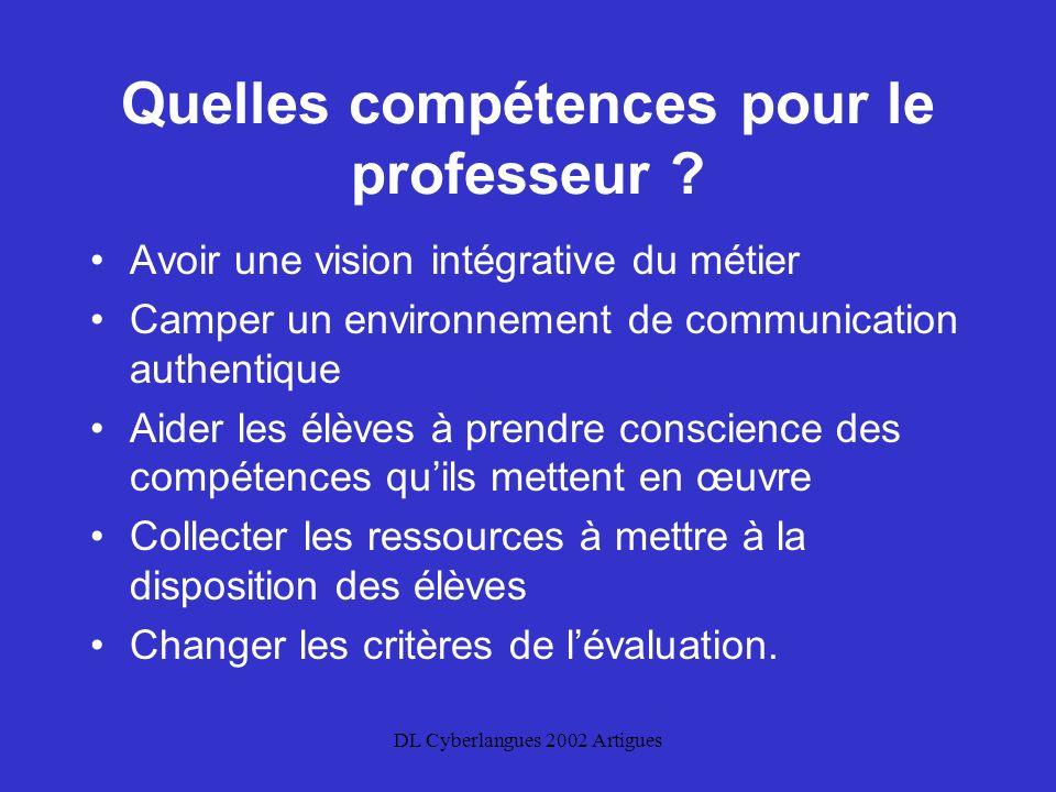 DL Cyberlangues 2002 Artigues Quelles compétences pour le professeur .