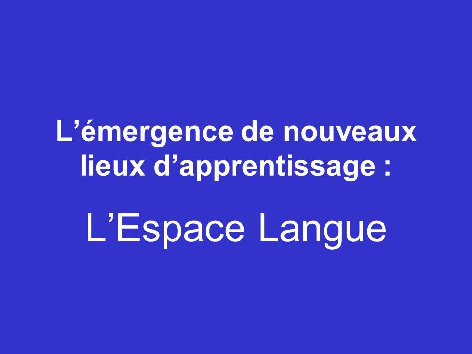 Lémergence de nouveaux lieux dapprentissage : LEspace Langue