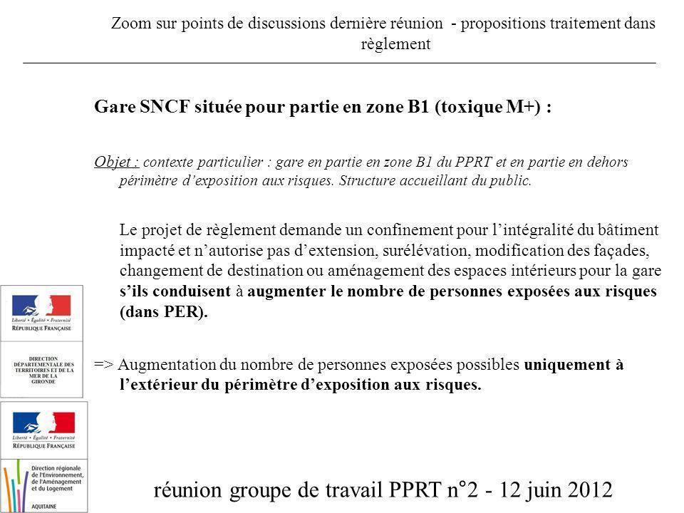 réunion groupe de travail PPRT n°2 - 12 juin 2012 Elaboration du PPRT de CEREXAGRI (33) Contacts : helene.lahille@developpement-durable.gouv.fr frederic.bart@gironde.gouv.fr