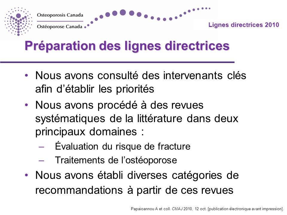 2010 Guidelines Lignes directrices 2010 Préparation des lignes directrices Nous avons consulté des intervenants clés afin détablir les priorités Nous